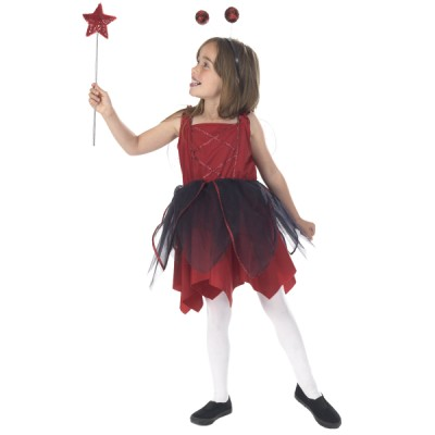Children's Girls Red and Black Ladybird Fancy Dress Up Costume