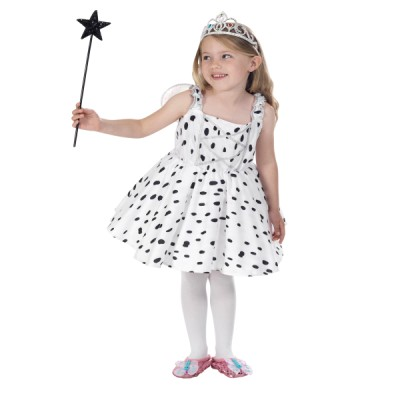 Children's Girls Spotted Dalmatian Fairy Fancy Dress Up Costume