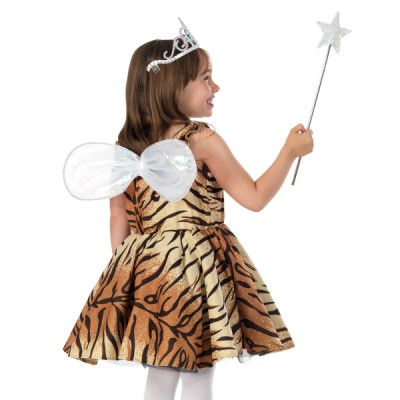 Children's Girls Tiger Lily Fairy Fancy Dress Up Costume