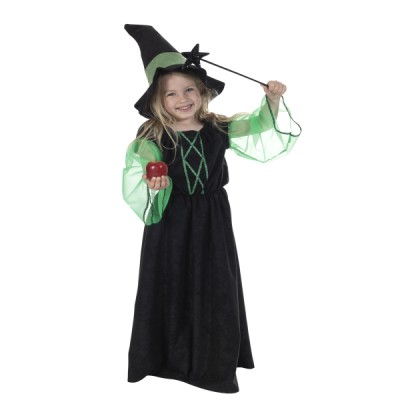 Children's Girls Wicked Witch Fancy Dress Up Costume