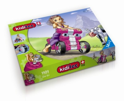 Children's Kiditec Multicar Pink - 79 Pieces