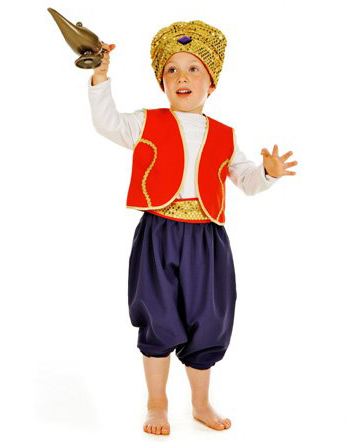 Children's Kids Boys Aladdin Arabian Prince Sinbad Fancy Dress Up Costume Outfit