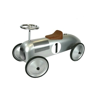 Children's Ride On Classic Silver Racer - Great Gizmos