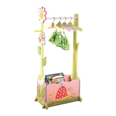 Children's Teamson Magic Garden Clothing Rack Incl 4 Hangers