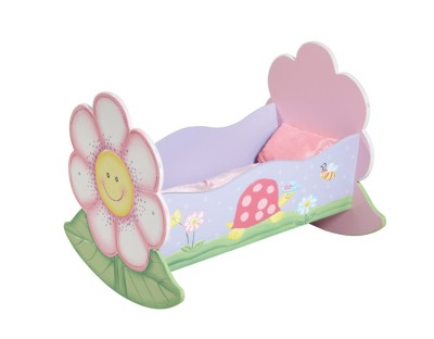Children's Teamson Magic Garden Dolls Rocking Bed
