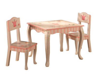 Children's Teamson Princess & Frog Table & Chairs Set