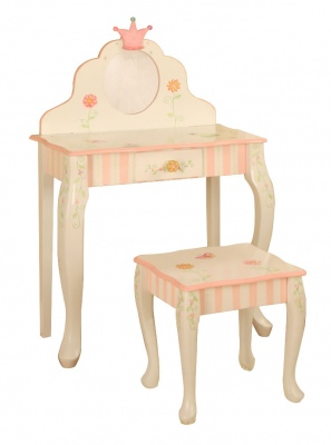 Children's Teamson Princess & Frog Vanity Table & Stool