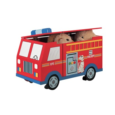 Children's Teamson Transportation Fire Engine Trunk On Wheels