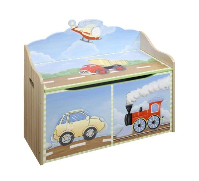 Children's Teamson Transportation Toy Chest