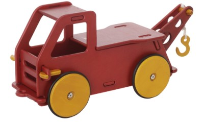Children's Wooden Baby Truck Red - Moover Toys