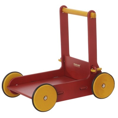 Children's Wooden Baby Walker Red - Moover Toys