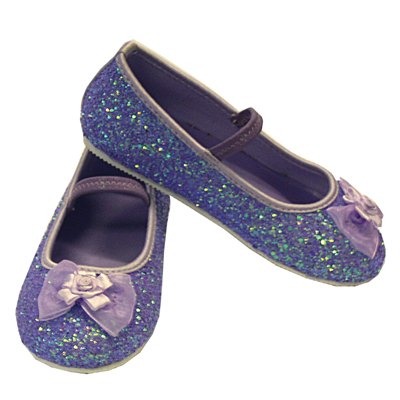 Girls Children's Sparkly Lilac Glitter Bridesmaid Party Shoes