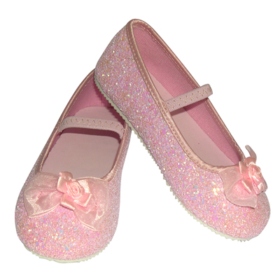 Girls Children S Sparkly Pink Glitter Bridesmaid Party Shoes