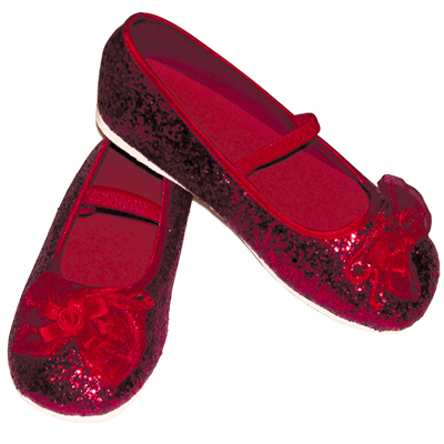 Girls Children's Sparkly Red Glitter Bridesmaid Party Shoes