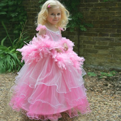 Girls Frilly Milly Pink Fancy Dress Costume