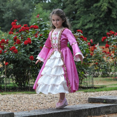 Girls Historical Marie Antoinette Queen Pink Fancy Dress