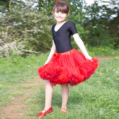 abd3f97eb Girls Kids Children s Red Burgundy Frothy Dress up or Dance Tutu