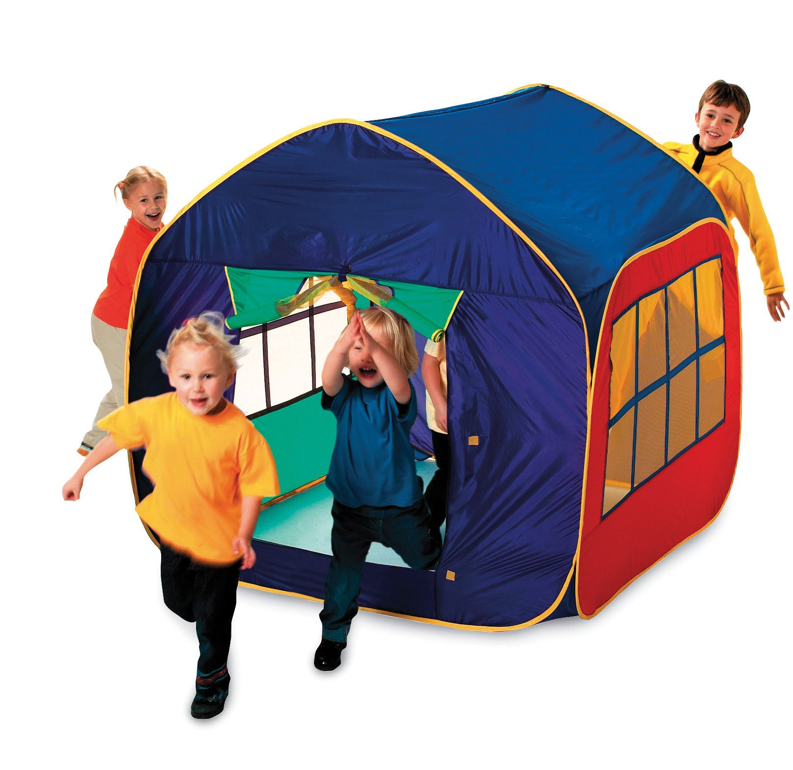 mega mansion pop up play house tent. Black Bedroom Furniture Sets. Home Design Ideas