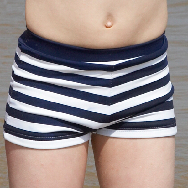 Mitty James Children's Boys Beachwear Swim Swimming Shorts Trunks - Navy / White