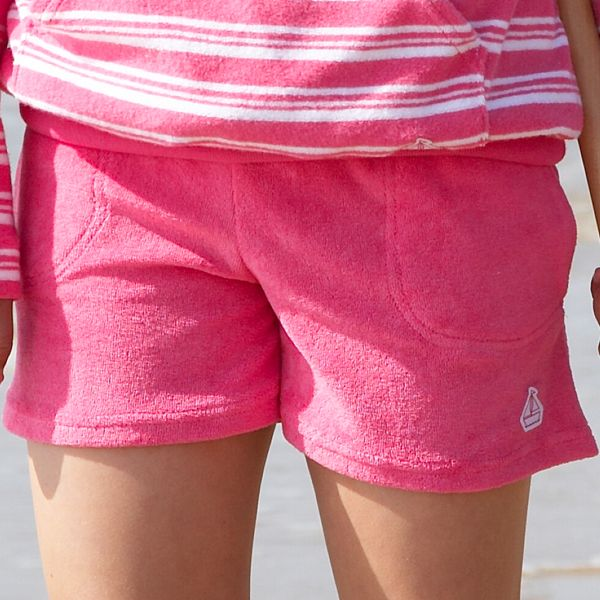 Mitty James Children's Girls Towelling Shorts with Pockets – Bubblegum Pink Plain