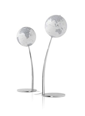 Modern Stem Reflection Lamp World Globe