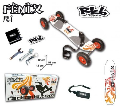 Radsail Fenix RKB 1 R1 Power Kite Mountain Board