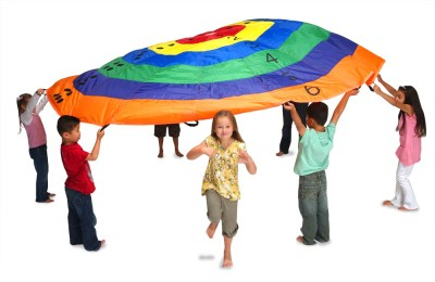 Target Play Parachute 3.5m 12ft + Bag & 9 Games