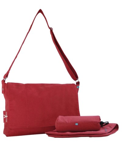 Wallaboo Messenger Bag - Warm Red