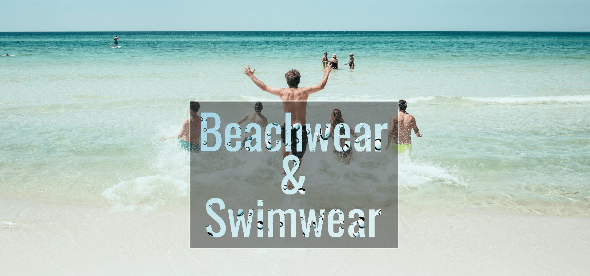 Swimwear & Beachwear banner: links to swimwear and beachwear category